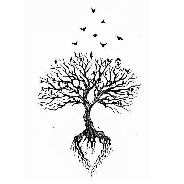 Du Bist Meine Wurzel Du Bist Meine Flugel Und Die Starke In Jedem Sturm Baum Des Lebens Tattoos Tattoo Life Wurzel Tattoo