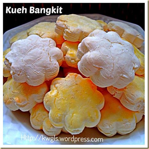 My Kueh Bangkit Broken Into Pieces When It Dropped On My Floor.. Traditional Kueh Bangkit