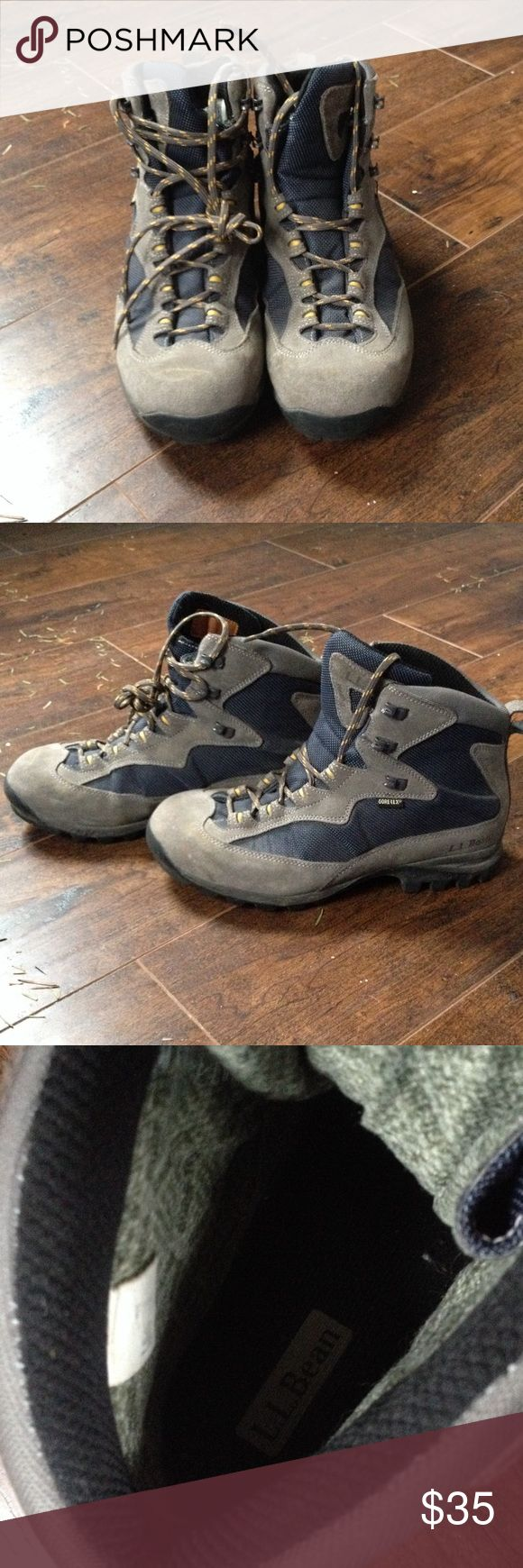 L.L. Bean Gore-Tex Hiking Boots size 7 Men's Only been worn once but needed a lower ankle support, fit to a women's 8.5-9! Bought new from LL Bean. L.L. Bean Shoes Winter & Rain Boots