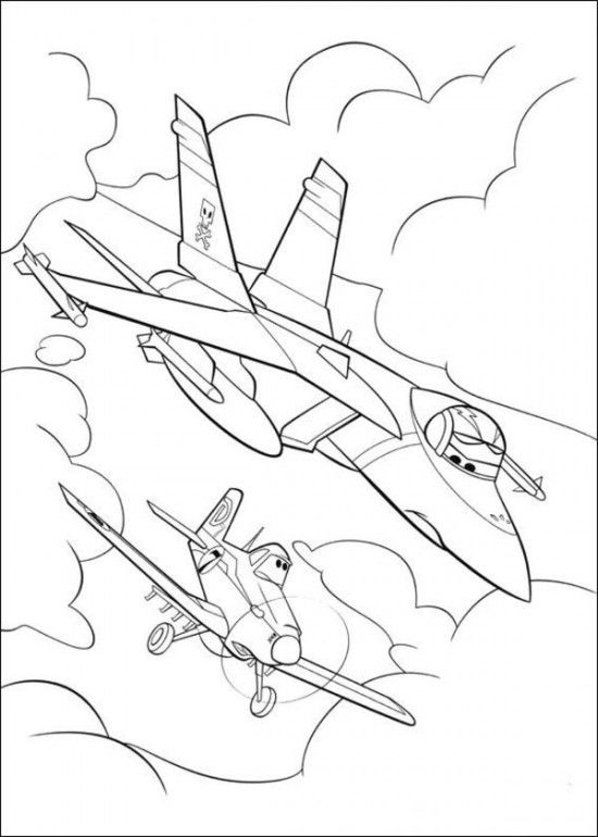 Free Coloring Pages Of Planes Picture 7 550x770