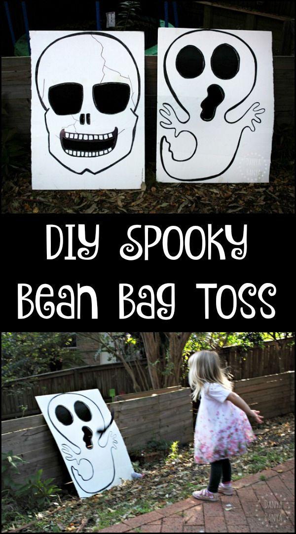 diy skull ghost bean bag toss game