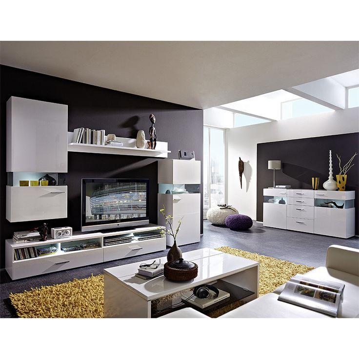 Die besten 25+ Wohnwand schwarz hochglanz Ideen auf Pinterest - wohnzimmermöbel weiß hochglanz