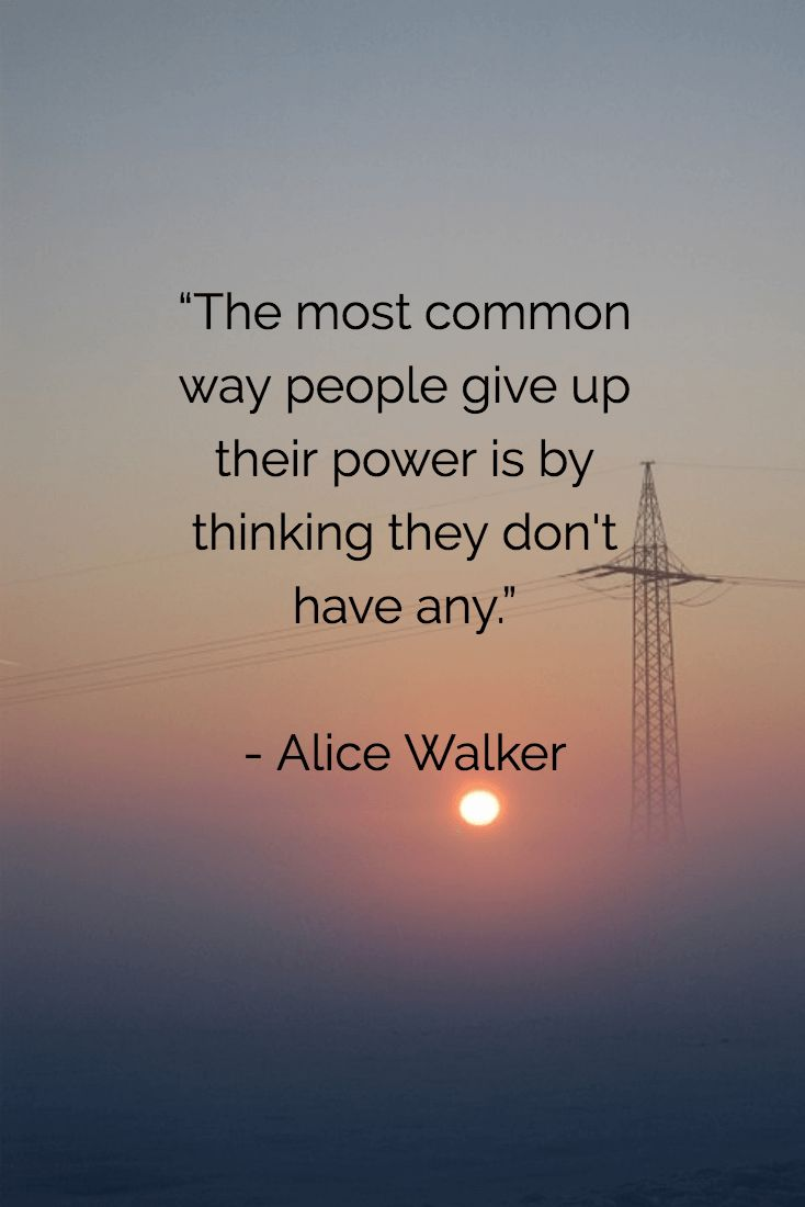 The most common way people give out power