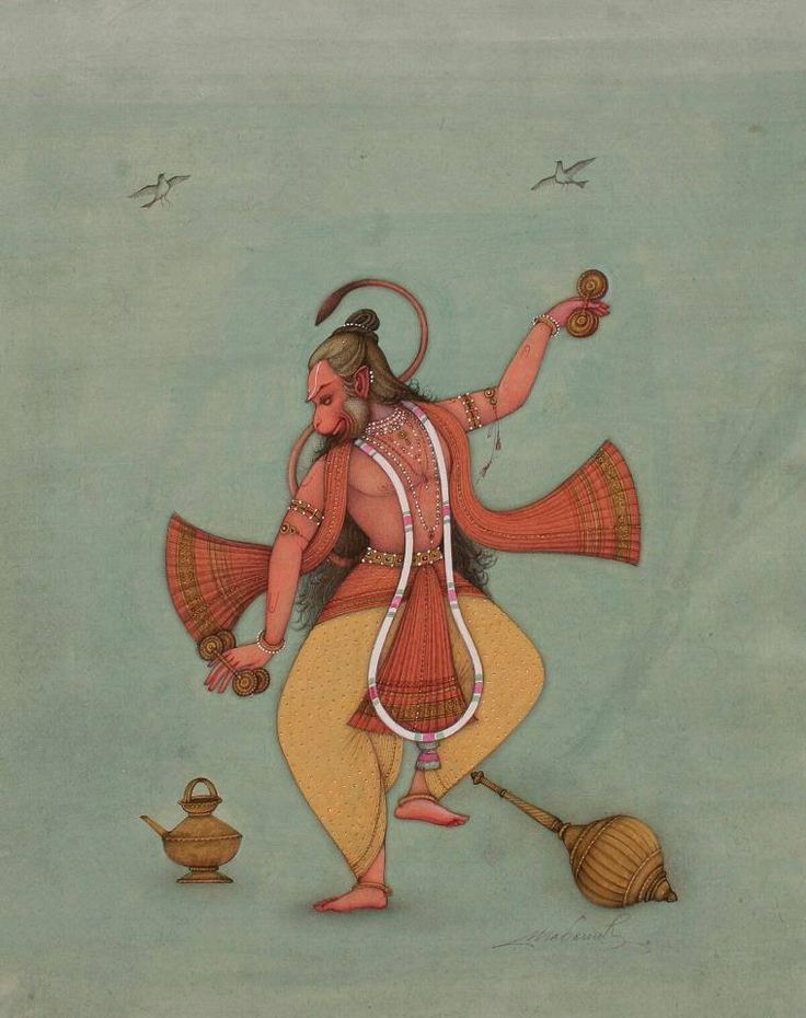 Dancing Hanuman by Mahaveer Swami
