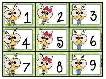 Bee Calendar Numbers