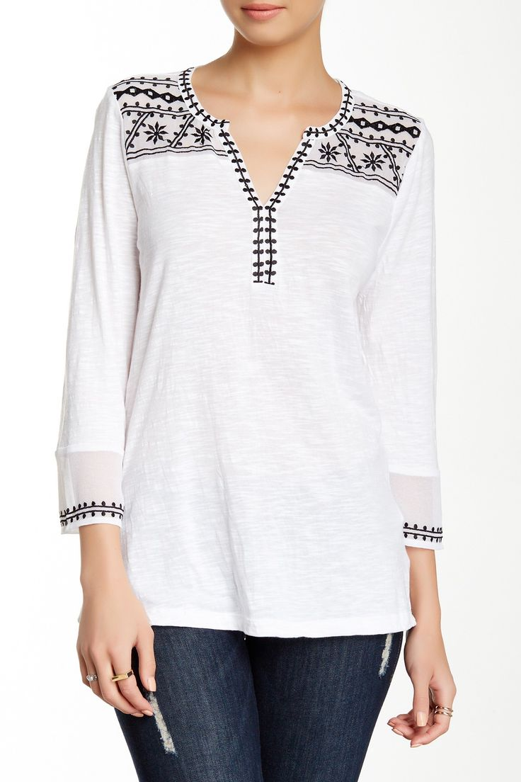 Kiana Embroidered Tunic by Lucky Brand on @HauteLook