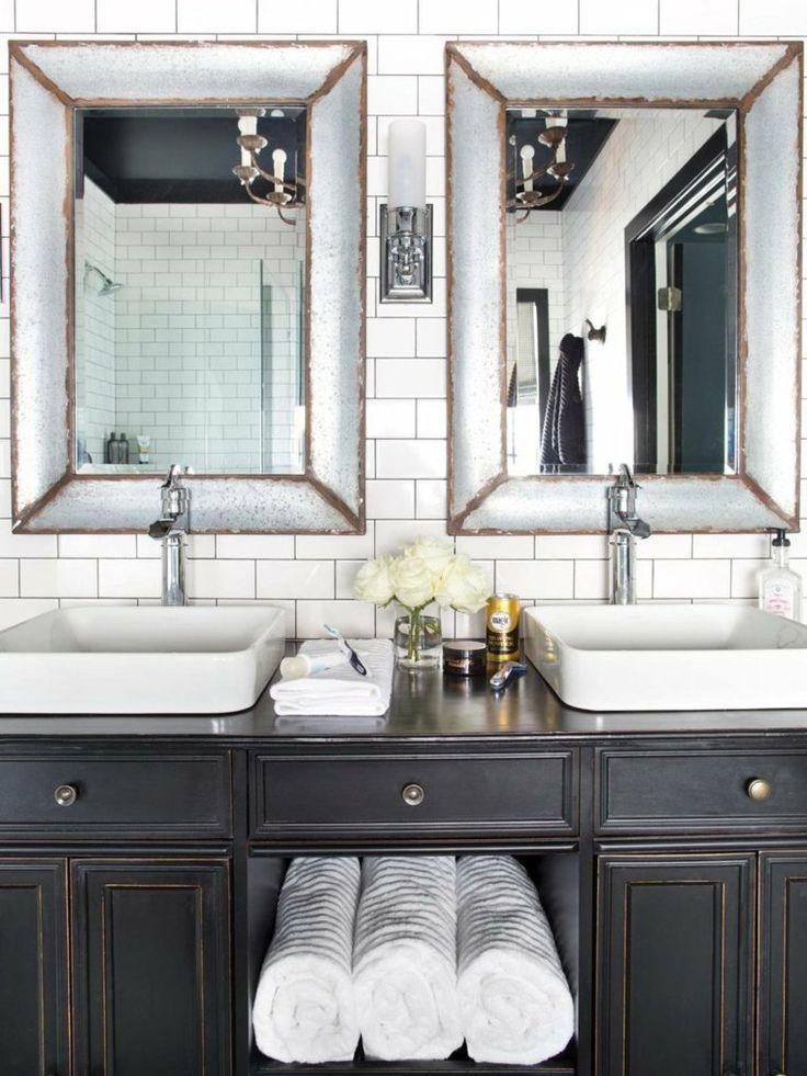 Les 25 meilleures id es concernant cadres de miroir en - Miroir cadre bois salle de bain ...