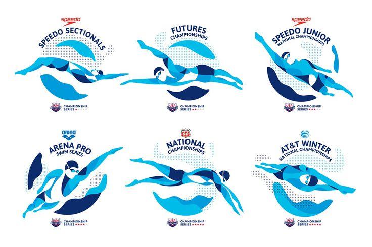 Diseño, Identidad, Comunicación, Publicidad -USA swimming- colle mcvoy