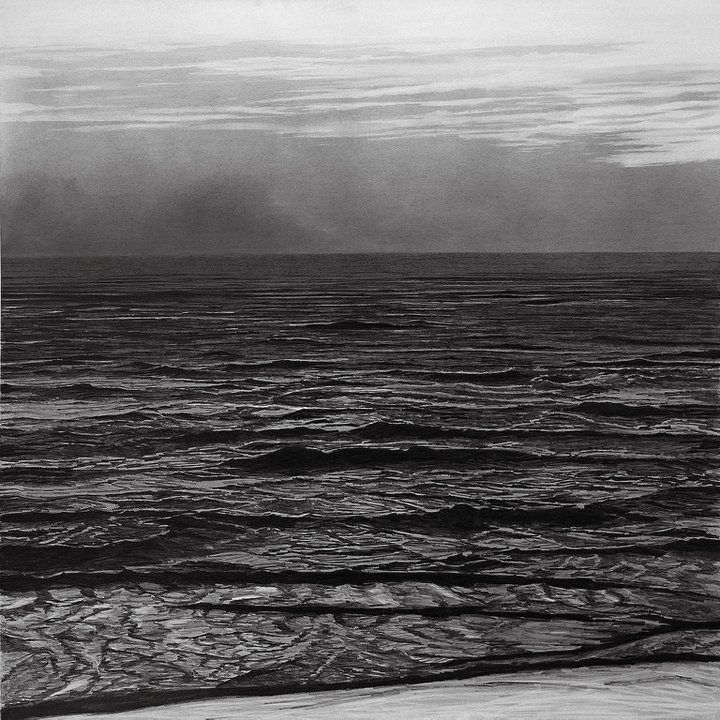 francisco faria - untitled. drawing, graphite on paper, 1994, 150x150cm. (vague landscape series)