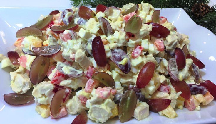 Салат пикантный НОВОГОДНИЙ ФУРОР. Этот незамысловатый, но очень вкусный салат произведёт фурор у Ваших гостей. Идеальное сочетание простых ингредиентов придаёт ему свежий вкус и делает его особенным. Приятного аппетита! ИНГРЕДИЕНТЫ 1 шт. куриная грудка ( 250гр) 100гр. сыр Фета, Брынза или подобный 3 шт. яйца отварные 1 шт. перец болгарский 150гр. виноград кишмиш (или […]