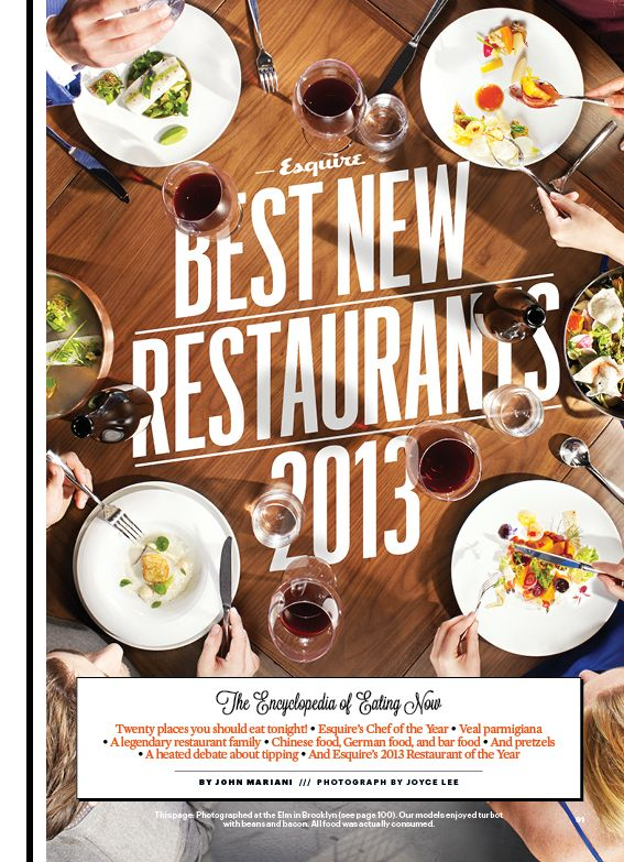 Esquire's Best New Restaurants Package - Frank Augugliaro /// Art Direction & Design