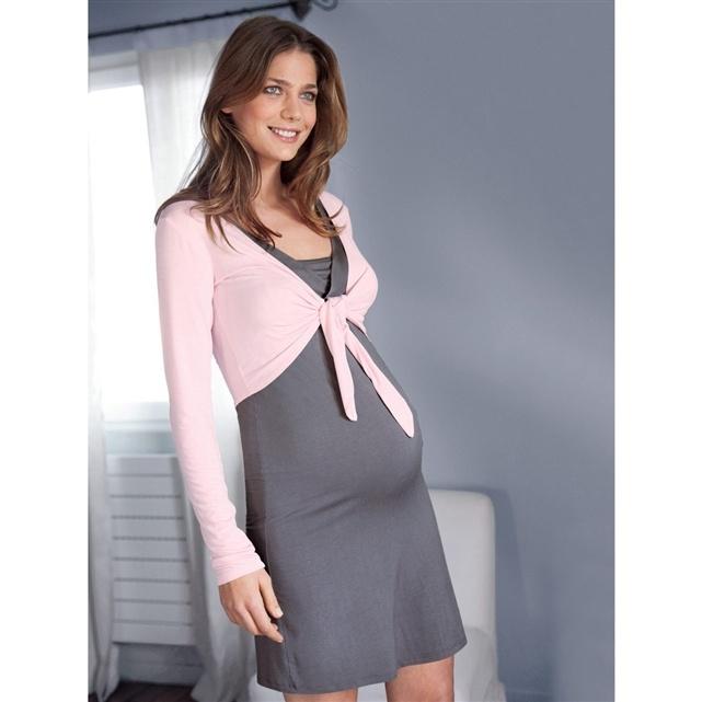 Camicia da notte e bolero per la gravidanza e l'allattamento