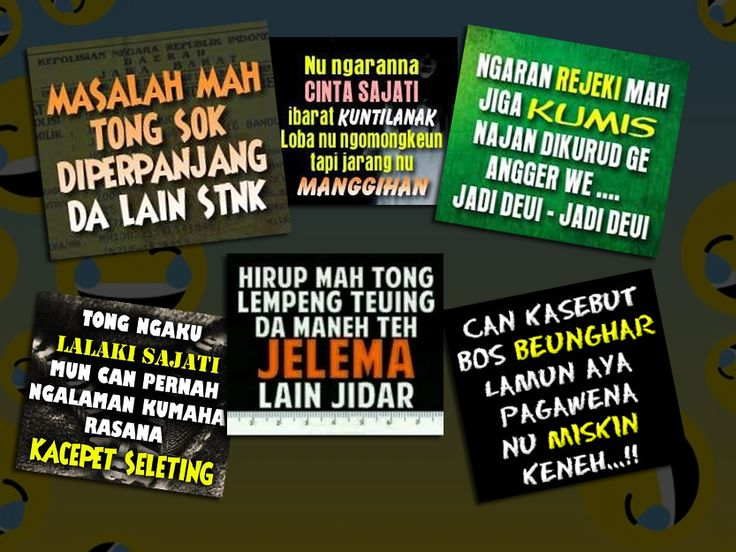 Kumpulan Kata Kata Lucu Bahasa Sunda Dan Artinya Wisatabdg Com   Kata kata, Lucu, Gambar lucu
