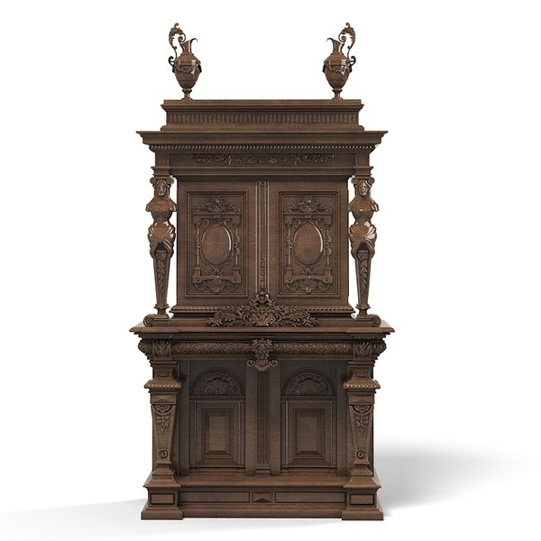 3d baroque wardrobe armoire - Baroque wardrobe armoire tv media cabinet big antique carved victorian furniture by shop3ds    http://www.turbosquid.com/3d-models/3d-baroque-wardrobe-armoire/602230