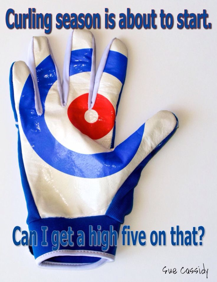 Kodiak curling gloves: curlng season starts soon. Can I have a high five on that?