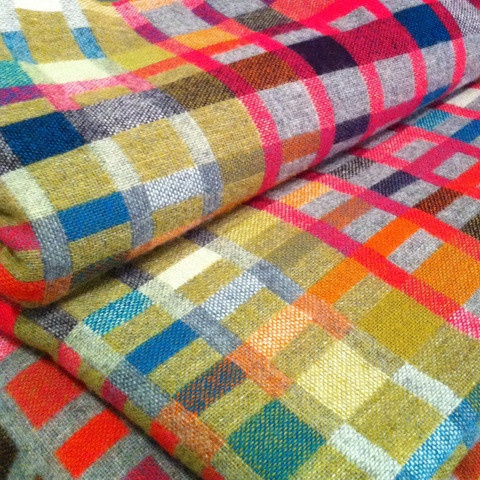 Lin Morris Love Blanket; Designed as if Paul Smith and Missoni collided...truly a blanket to love!