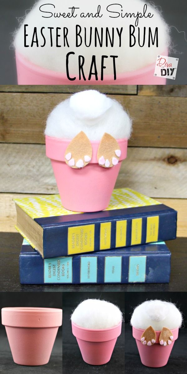 An Easter Bunny Craft using a flower pot that's easy enough your kids can do it and cute enough you will want one in every color for your Easter Decor!