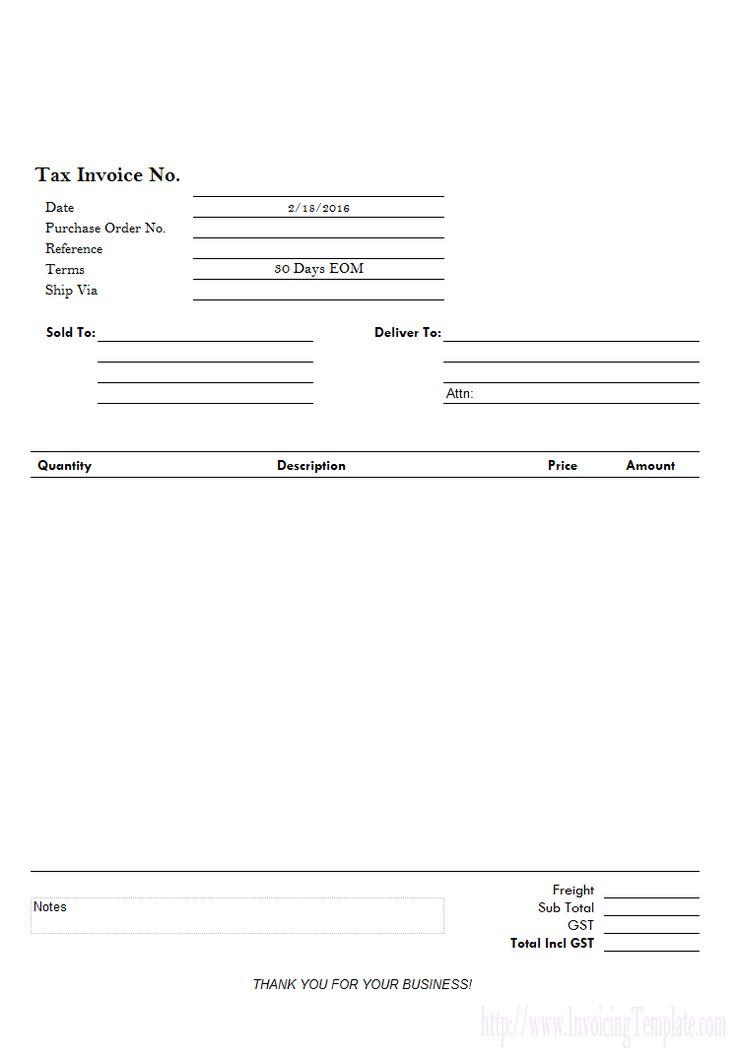 Simple Invoice for Letterhead Paper