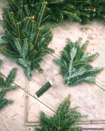 Tutorial on making a fresh wreath!  I'm totally doing this in the next couple days with free pine clippings I got from leftover trees at Home Depot