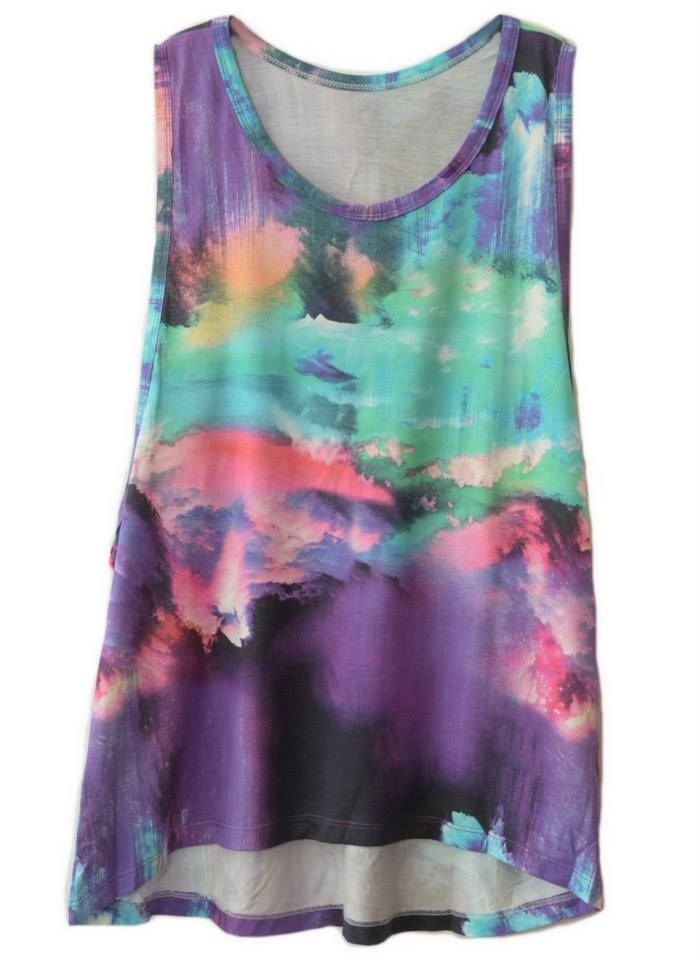 Regatão Digital Tie Dye! #regata #art #tiedye #estilo #girls #moda #fashion #digital #modafeminina #outfit #cores