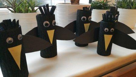 Havran? Vrána? Kos? …prostě černý pták… Dnešní tvoření s dětmi.   Related