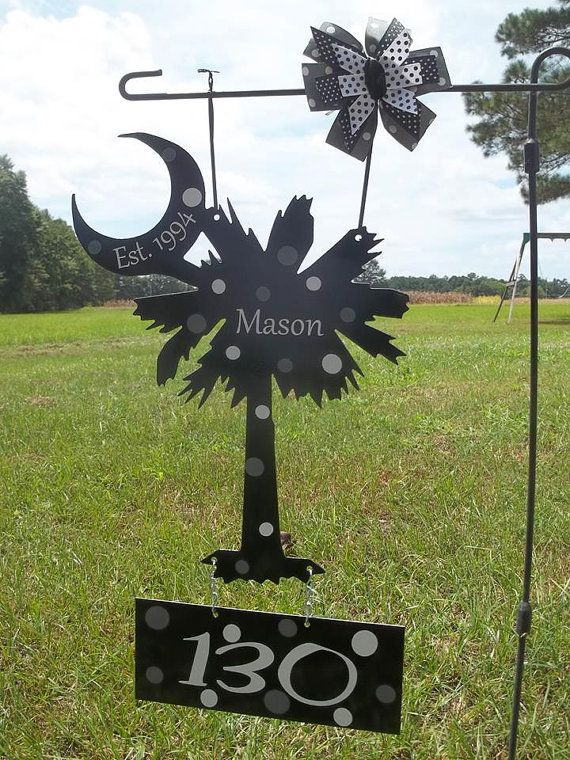 Delicieux Palmetto Tree And Moon, Garden Flag  . Find This Pin And More On Backyard  Metal Art ...