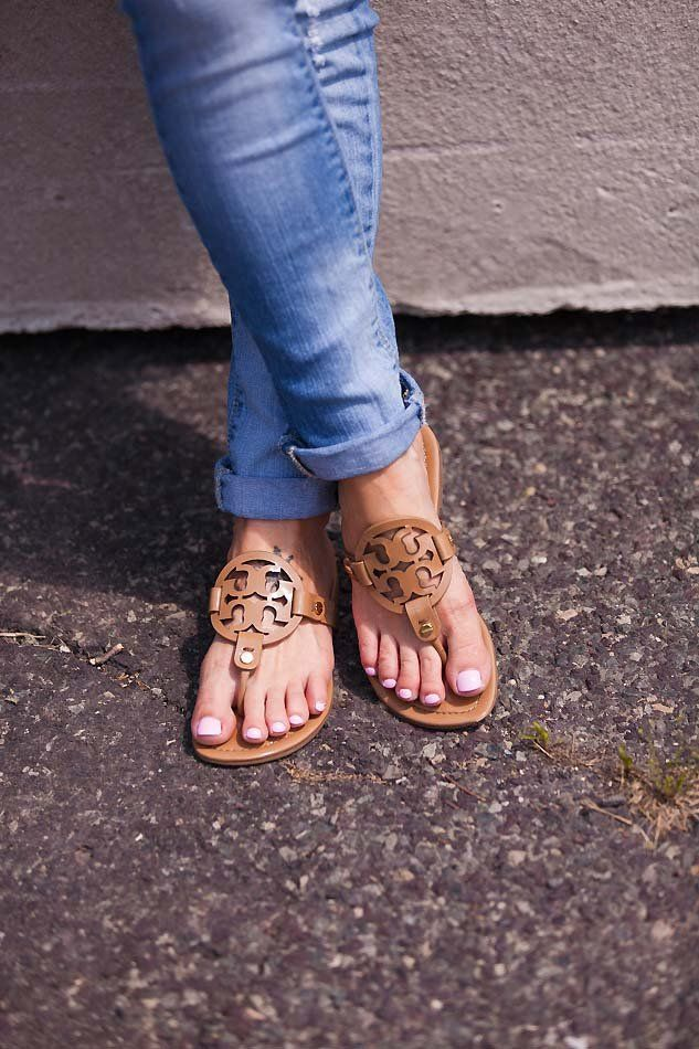 tory burch miller sandals // LipglossandLabels.com