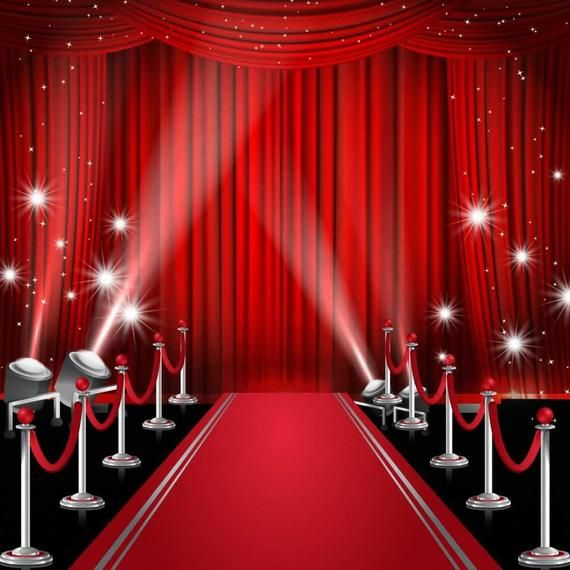 Curtain Red Carpet Pillar Photography Computer Printed Etsy In 2020 Red Curtains Red Carpet Background Printed Backdrops