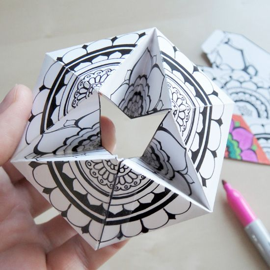 Free Printable Kaleidocycle Paper Toys For You To Diy