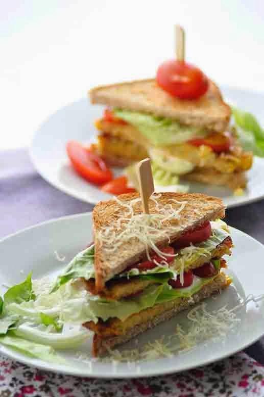 mal was anderes [ vegetarischer Sandwich-Burger ]