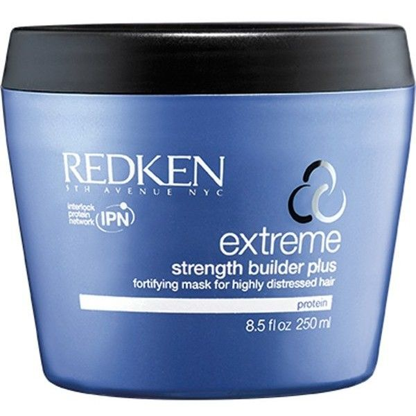 Redken Extreme Strength Builder 250ml ($27) ❤ liked on Polyvore featuring beauty products, haircare, redken haircare, redken and redken hair care