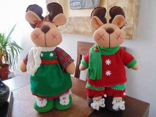 Como hacer renos navideños de fieltro con moldes