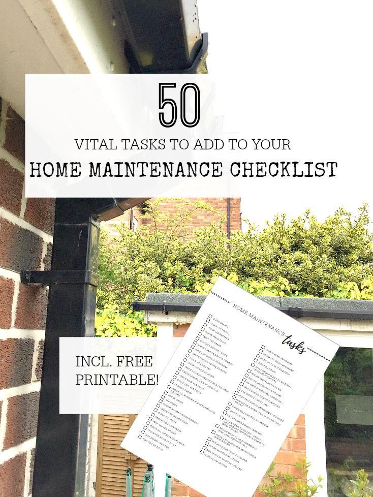 Home maintenance checklist with free printable to help work out what tasks you have to do - use this to create your own home maintenance schedule