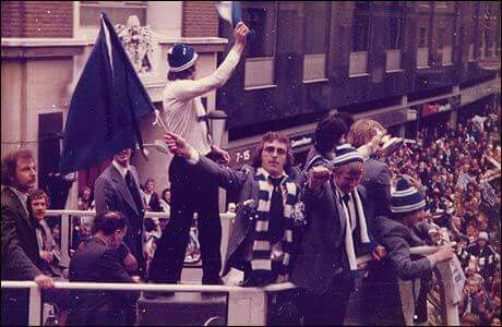Ipswich Town Football Club, happy times for the tractor boys .  Suffolk, England.