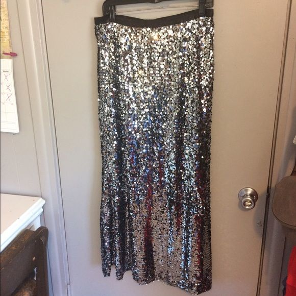 I just discovered this while shopping on Poshmark: PRICE DROP! Long Sequin Skirt, sequin maxi skirt. Check it out!  Size: L