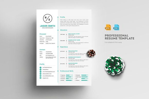 Awesome Resume Template @creativework247