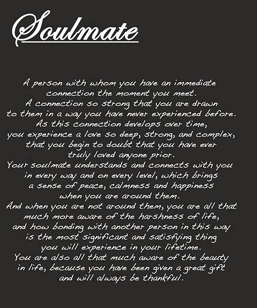 I love you!!! The connection between us.. the draw to each other is so strong that I know we are meant to be together... soulmates!!!: