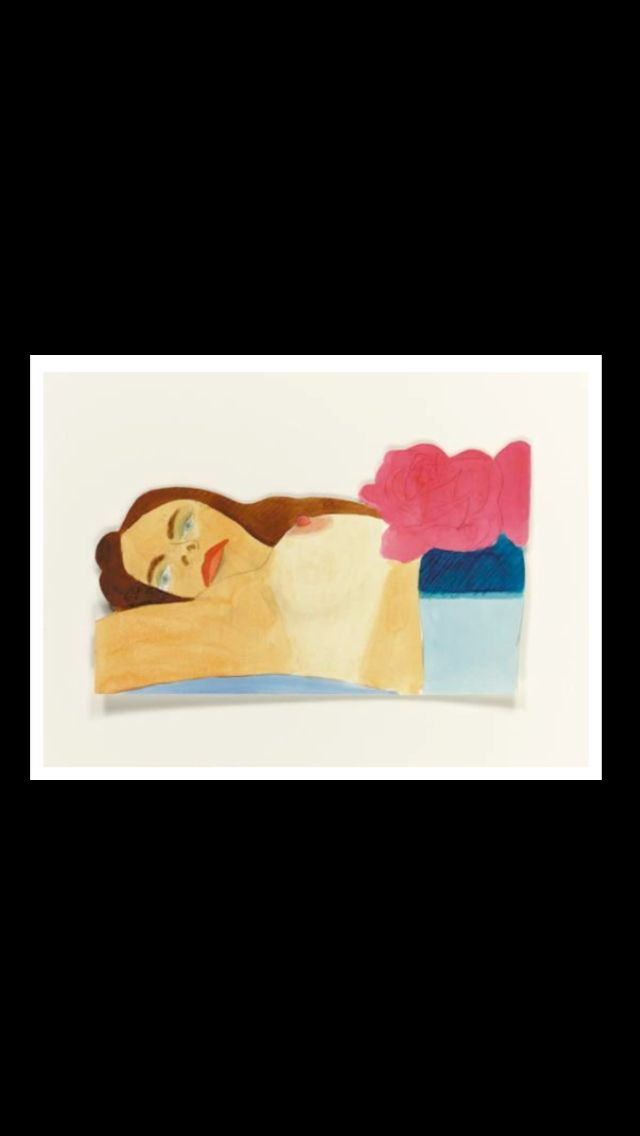 """Tom Wesselmann - """"Drawing for Daniele Nude"""", 1970/74 - Liquitex and pencil on paper - 15,9 x 26,7 cm"""