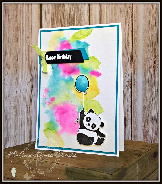KOCreations Stampin' Up! Blog: Party Pandas - Enjoy The Little Things In Life Design Team Blog Hop, Water Color Background, Water Colour, Birthdays, Card Making, Cute Cards, Birthday Party, Rubber Stamping