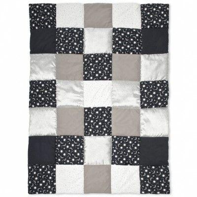 Couvre lit patchwork Stary nearly (100 x 140 cm) : Baby Boum - Edredon / Couvre-lit - Berceau Magique