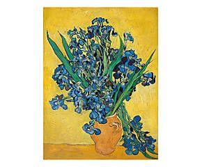 Stampa fine art su canvas con telaio in legno Irises I - 80x60x4 cm