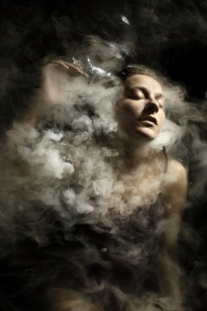 """""""In dreams"""" - Stephen Carroll {woman emerging from smoke/clouds photography}"""