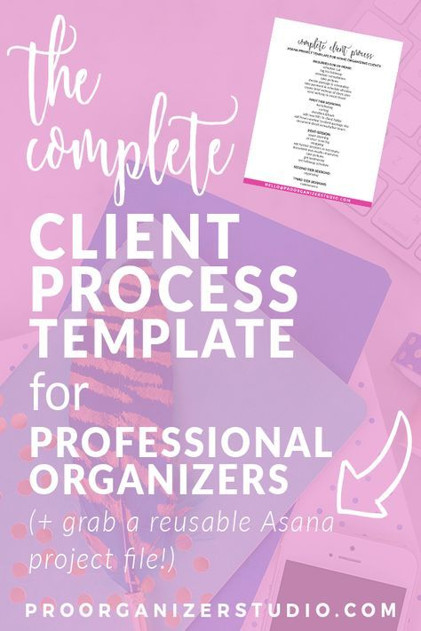 End organizing project stress with a repeatable process you can use with every residential client, while still allowing for her needs and your own intuition as a pro organizer. Includes a free Asana template to download!