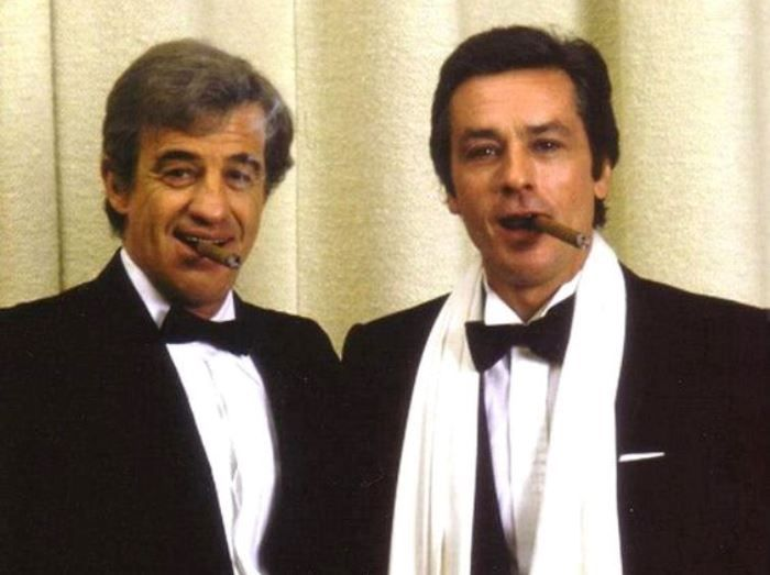 Жан-Поль Бельмондо и Ален Делон | Фото: kinoistoria.ru