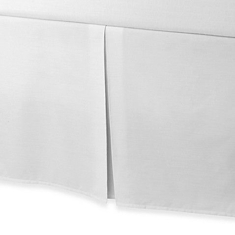 smoothweave™ Tailored 18-Inch Twin Bed Skirt in White