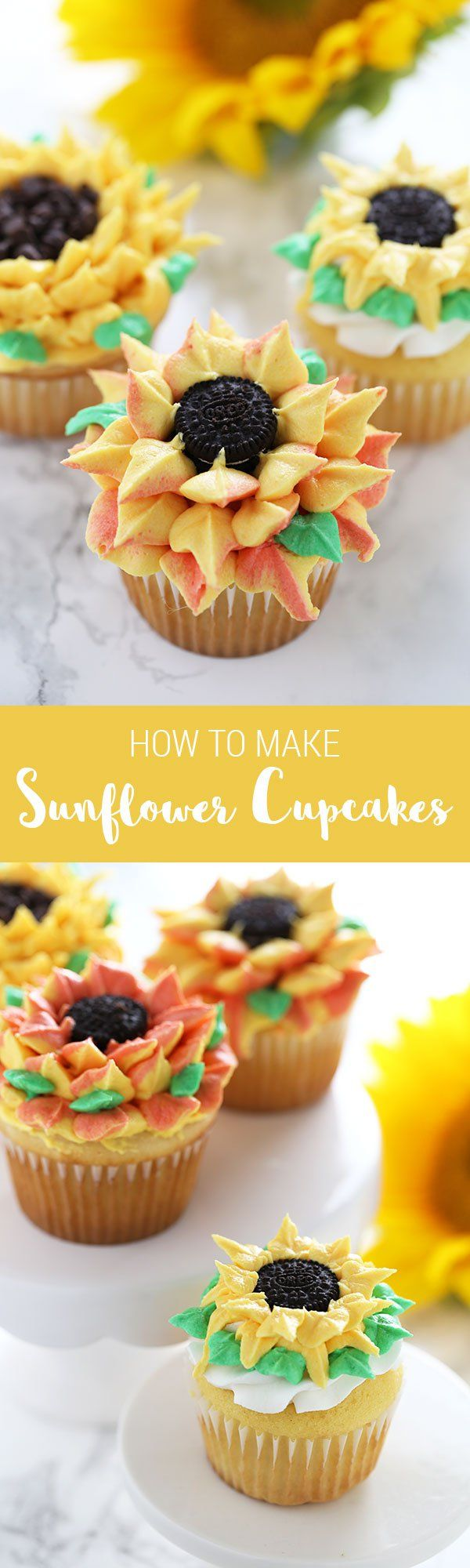 Decorate GORGEOUS fun sunflower cupcakes... ANYONE can do these!!