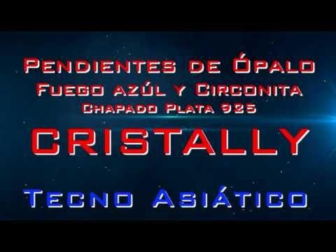 Pendientes de Ópalo Fuego azúl y Circonita Chapado Plata 925 CRISTALLY . ¿Los quieres?-----> http://amzn.to/2uKw7HE