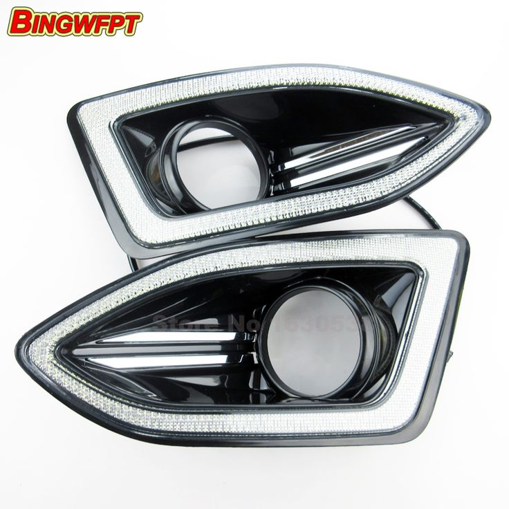 Daytime running lights Accessories with fog lamp hole 12v LED CAR DRL For Ford Edge 2015