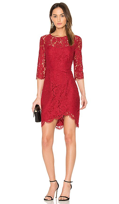 17 best images about red dresses on pinterest lace for Red midi dress wedding guest