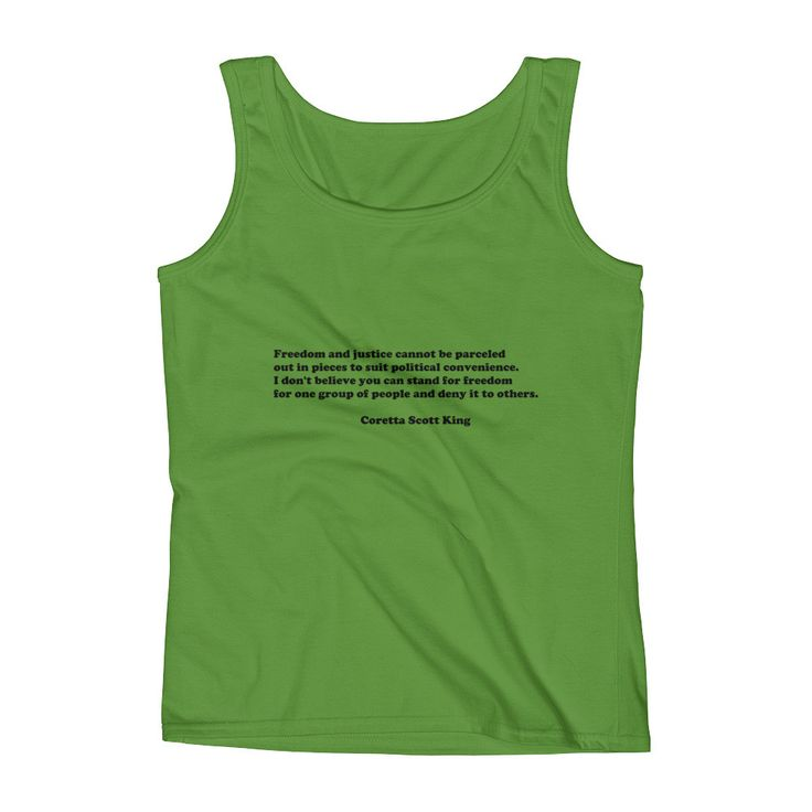 Coretta Scott King Quote Ladies' Tank